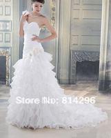 Free     shipping   The bride marriage gauze shoulder princess wedding dresses