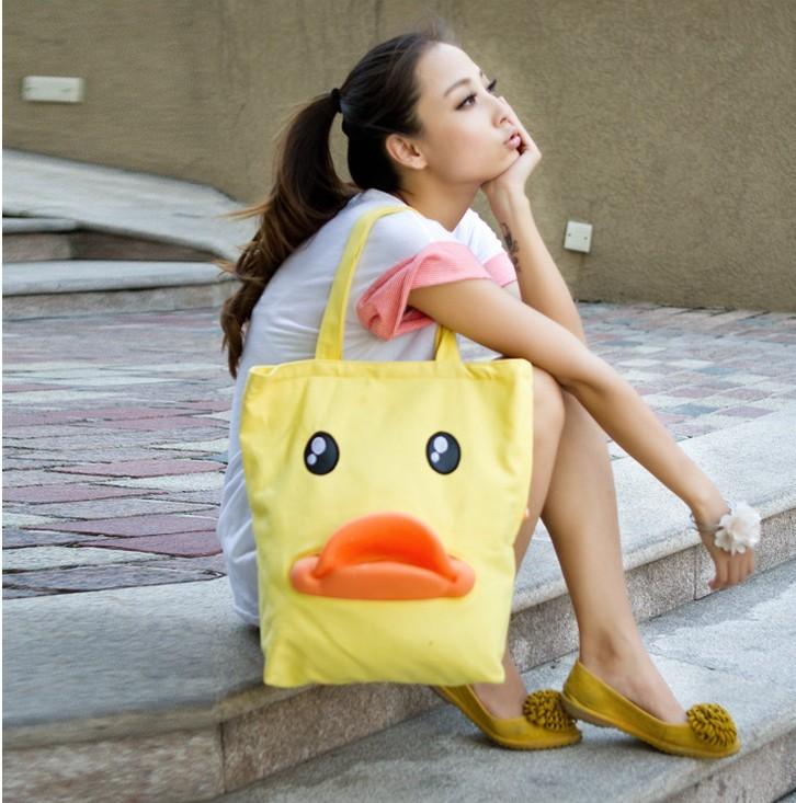 Women's handbag 3 beauty jiada had shoulder bag duck bag canvas bag three-dimensional duck women's handbag(China (Mainland))