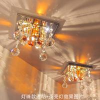 Modern led crystal ceiling light downlight spotlights aisle lights entrance lights lamps free shipping