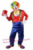 Shoulder Strap Design The Clown Costume Halloween Carnival Adult Size Free Shipping 1 set