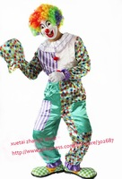 Stripe Design The Clown Costume Halloween Carnival Adult Size Free Shipping 1 set