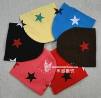 Wholesale 60 pcs/lot Baby warm three Star Cotton Beanie Hats Skull Cap For 1-3 Years Toddler Infant Baby Kids Retails colorful