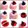 5 Colors Feather Rose Mini Top Veil Hat Hen Party Headdress Clip 8 cm Fascinator[040723](China (Mainland))