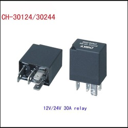 Universal 4 pins 12V 30A auto relay and car relay(China (Mainland))