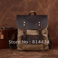 High quality new arrival canvas+cowhide backpack , hotsale vintage fashion elegant backpack,YG032,Fr