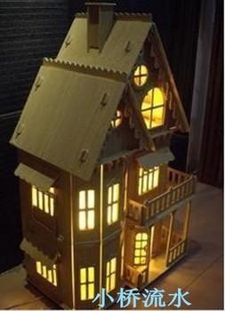 Wooden model assembled diy dream wool 3d puzzle
