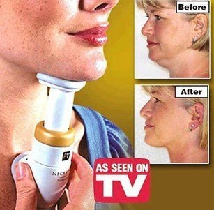 Free Shipping New Neckline Slimmer Neck Line Exerciser Thin Chin Massager As Seen On TV 48pcs/lot BY-30