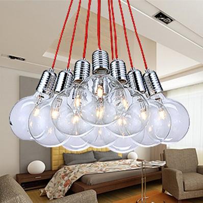 Modern brief pendant lamp fashion living room pendant light bedroom lamp red string bubble pendant light(China (Mainland))