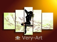 H002-10 handmade fashion modern simple  design  women flower nude female body paintings on canvas art decoration H002-10