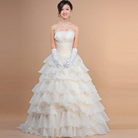 Freeshipping! Hot sale Bridal wedding dress,Korean version of sweet princess wedding