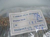 20pcs 1/4W 1100ohm 1K1ohm 5% Carbon Film Resistor