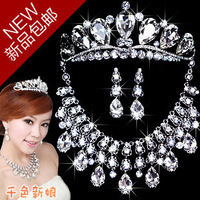 Guangcai - bride vintage royal necklace set luxury zircon accessories jewelry set