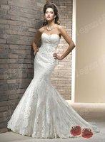 2013 New Listing Wedding Dress Mermaid Lace Royal Designer Fashion