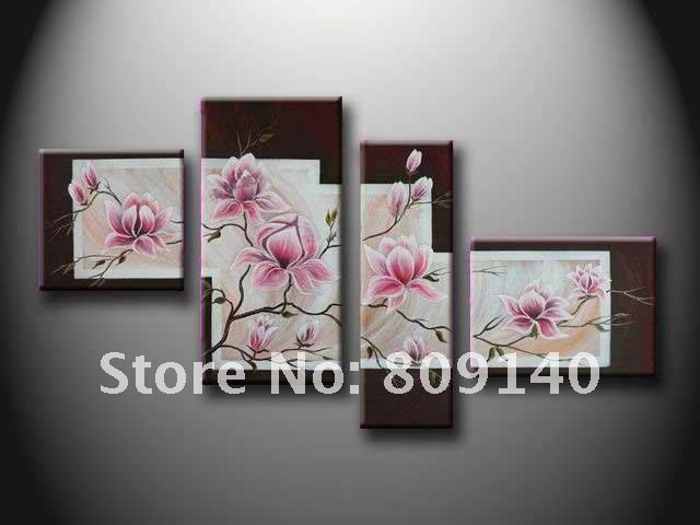 free shipping oil painting canvas flower artistic abstract beautiful home decoration office wall art decor high - Art Decor
