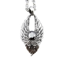 (free shipping CPAM) Dapeng wings male pendant necklace accessories titanium heterochrosis