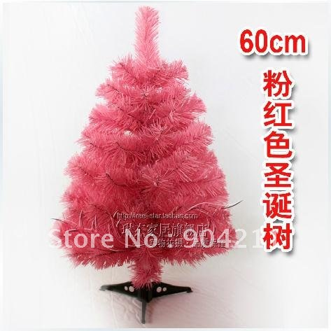 NEW! 60cm Pink Christmas Tree, Christmas ornaments, free shipping+gifts(China (Mainland))