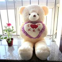 Plush toy bear holding heart Large dolls child day gift