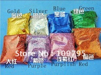 25G/Bag, 10Bags/Lot Gold Silver Colourful Glitter Powder Party DIY Nail Wedding Flower Supplier Free Shipping