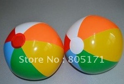colorful beach ball for kids children boys girls boy gilr summer toys .(China (Mainland))