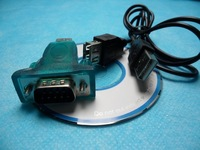 Wholesale Free Shipping New USB 2.0 to 9 Pin Serial RS 232 RS232 Adaptor Converter