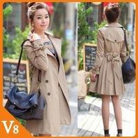 V8 / Free Shipping 2013 spring autumn,winter new plus size women clothing jacket double breasted coat for Wholesale sales