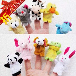 Cartoon Animal Finger Puppet,Finger toy,finger doll,baby dolls,Baby Toys,Animal doll Free Shipping 100pcs/lot (10pcs/bag)
