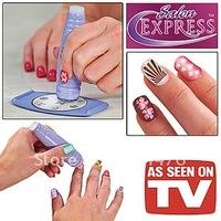 Wholesale Salon Express Nail Art Stamping Art Set TV Nail Print As Seen On TV Free Shipping 240pcs/lot