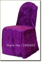 purple velvet wedding chair cover for weddings