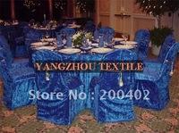 royal blue  velvet wedding chair cover for weddings
