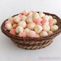 Artificial fruit fake vegetables bread model decoration fruitlessness mini peach 10
