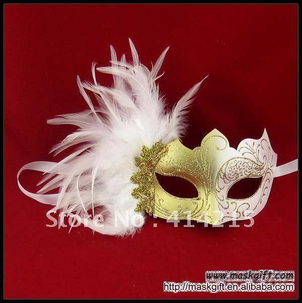 Black And White Masquerade Masquerade Mask in White