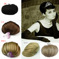 1b black color free shipping hofn hair bun fasion style women's hair wig high quality supply from factory