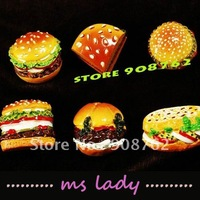 Hand Painted Creative Gift fridge magnet refrigerator magnetic sticker 6pcs/set ree Shipping HK airmail