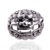 Eternal fashion silver jewelry gothic vintage male ring thai silver lucky fortune mascot pi xiu ring