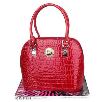 Free Shipping, Fashion Ladies Crocodile Pattern PU Handbag Shoulder Bag,Promotion! ACET0063