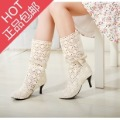 Free shipping Cutout shoes lace shoes crocheted low-top shoes ankle boots sweet princess sandals