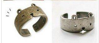Fashion Hot Sale New Arrival Silver Bronze Retro Cute Bear Rings R52(China (Mainland))
