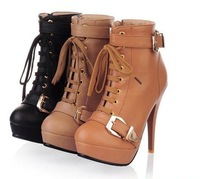 2012 new fashion winter boots for women Reflexed two wear lace short-leg snow boots #M173
