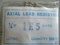 20pcs 1/4W 1E5ohm 5% Carbon Resistor