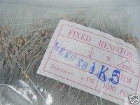 20pcs 1500ohm 1K5 ohm 1/4W 5% Rohs Carbon Film Resistor