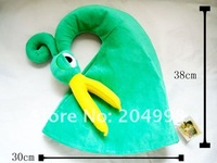 "Free shipping The Legend Of Zelda Minish Green Plush  Cap Hat Link Cosplay Costume  15 "" Wholesale"
