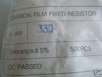 20pcs 1/4W 330ohm 5% Carbon Resistor NEW