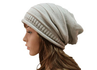 NEW Unisex Winter Mens Knit Beanie Womens Crochet Knitted Slouch Beanies Hat Men Oversized Skullcap Cable Knitting Baggy Hats