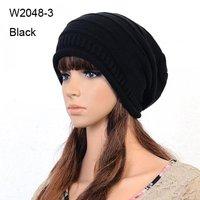 10pcs 2014 Winter Knit Beanies For Men Womens Black Slouch Beanie Crochet Hat Mens Oversized Skullcap Cable Knitting Baggy Hats