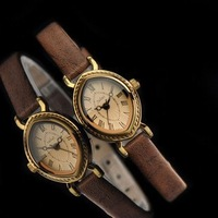 julius popular brand Japan movement eye shape Roman numerals brown leather lady watch;Factory Outlet;JA-567brown