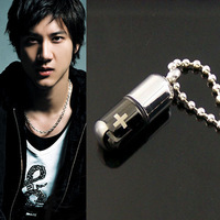 Pill titanium steel necklace general capsule pendant fashion accessories