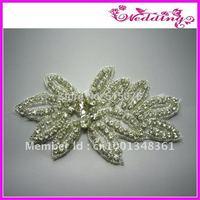 bling stone dress sash applique