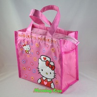 "New Lovely Hello Kitty Cat Tote Handbag Lunch Box Bento Bag sac 8"" Tall Pink #S HB-nurse (420D)"
