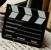 Free Shipping HOLLYWOOD FILM PROP HOME MOVIE ACTION SCENE DIRECTORS TAKE CLAPPER BOARD
