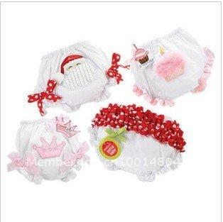 baby shorts pants Lovely Santa Claus Bread pants cake bowknot shorts Crown shorts 9pcs/lot